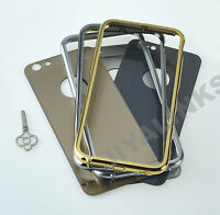 Luxury Aluminium Ultra-Thin Metal Case Cover For iPhone 5, 5s, 6, 6plus With Key