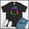 Men's Apple Logo T Shirt Ring Spun Cotton Tees New