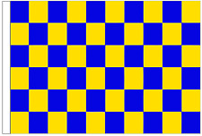 Royal Blue And Yellow Check 3' x 2' Medium-Sized Sleeved Flag