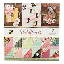 "American Crafts 12""x 12"" Wildflower Paper Pad Stack - 60 Designs, Printed Cardst"