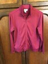 Coldwater Creek Womens Pink Zip Up Windbreaker Jacket SZ Medium