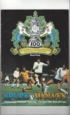 Away Teams S-Z Wolverhampton Wanderers Football FA Cup Fixture Programmes
