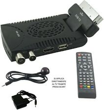 Mini Decoder digitale terrestre TV DVB T2 piega 180° full HD 1080p 1920p scart