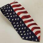Red White Blue Fratello Tie American Flag Handmade Necktie Patriotic July 4th