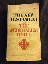 The New Testament Of The Jerusalem Bible Readers Edition Copyright February 1969
