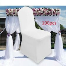100X Chair Covers Spandex Lycra Cover Wedding Banquet Anniversary Party Decor