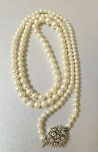 Stunning Long STRAND OF CULTURED PEARLS Womens Elegant Jewellery