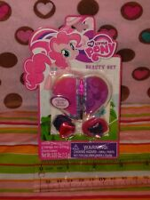 NIP My Little Pony Pinkie Pie Beauty Set - Lipgloss Ponytail holders Tattoos!