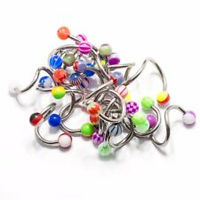 Twister Ring Spiral Pack 20 Belly 14G Navel Lip Ear Helix Barbell Assorted Beads