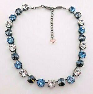 "Authentic Sabika Closing Night Manhattan Round Crystal Choker Necklace 16-18"""