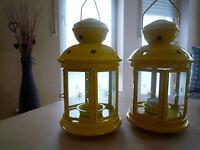 2x Ikea Rotera Laterne für Teelicht 21 cm gelb