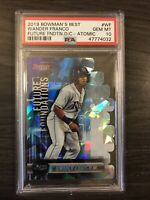 2019 Bowman's Best Wander Franco Future Foundations Die-Cut Atomic PSA 10 Rays