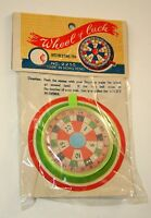 Dime Store Toy Plastic Spin Wheel of Luck 1960s Nos New Color Varies Hong Kong