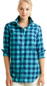 Vineyard Vines Relaxed Carmel Buffalo Check Performance Flannel Button Down US 4