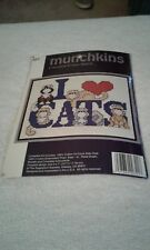 "Munchkins ""I Love Cats"" counted cross stitch kit"