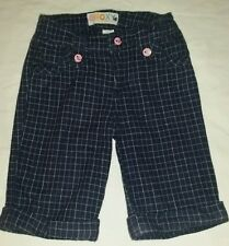 Girls ROXY 24 Months Pants Blue Pink Plaid EUC