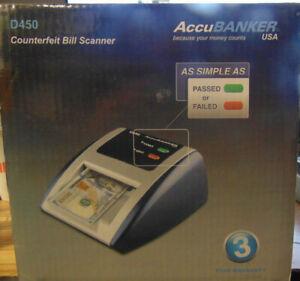 AccuBanker *D450* Counterfeit Bill Scanner Detector red