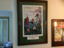 "Tulip Time Framed Print 1999 Winner Steve French Signed #/750 Huge 43"" x 30"""