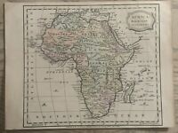 1816 AFRICA HAND COLOURED ORIGINAL ANTIQUE MAP 204 YEARS OLD