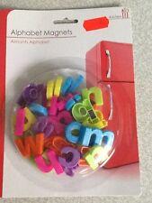 40 Colourful Magnetic Lower Case Letters Alphabet Fridge Magnets Sil