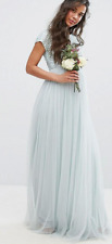 Bnwt Maya Maternity Green Maxi Dress With Sequin & Tulle Skirt - UK 12 (R178)