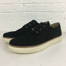 Andrew Marc Edson Mens Black Suede Low Top Lace Up Sneakers Size 13 NIB