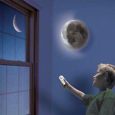 US Healing Moon LED Wall Night Light Lamp White Romantic Remote Control Kid Gift