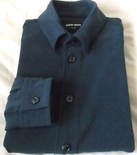 Luxurious GIORGIO ARMANI black label Solid Navy Blue 15 1/2 -39  Made in Italy