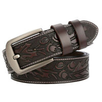 Men's Belt Cow Genuine Leather Belt Luxury Strap Belts for men Pin Buckle  Belt