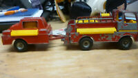 corgi duel toys,turbine truck series,fire truck,5 inch,and trailer,4 inches