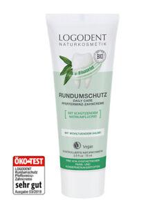 3x Logodent Xylit Zahncreme Rundumschutz Zahnpasta mit Natriumfluorid und Salbei