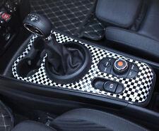 For MINI Cooper F60 17-18 Checkered UK Car Interior Front Gear Shift Panel Cover