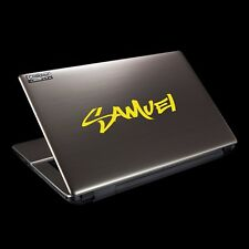2x PERSONALISED NAME LAPTOP STICKERS SET FOR COVER AND KEYBOARD great Xmas gift!
