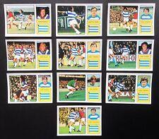 Il 1973-74 QPR FKS meraviglioso mondo delle stelle del calcio 10 X ADESIVI