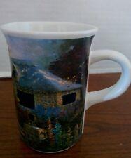 Thomas Kinkade Oil Painting Hollyhock House Cup