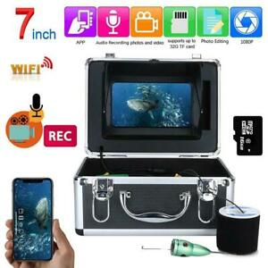 """15/20/30M Wifi Underwater Fishing Video Camera Kit with 7 """" Inch Color Monitor"""
