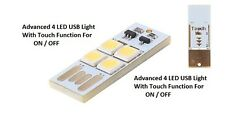 USB Powered 4 LED Bright Light For Home, Camping With Advanced Touch Function