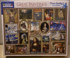 BRAND New - WHITE MOUNTAIN PUZZLE - GREAT PAINTINGS- 1000 PIECE - SEALED USA
