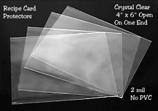 RECIPE CARD COVERS 4 X 6 - CRYSTAL CLEAR - 2 MIL SET OF 100