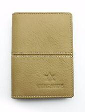 Mens Black Beige Real Leather Slim Credit Business Card Holder Case Wallet CH1