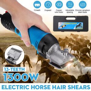 DE 1300W 6 Gang Pferd Schermaschine Kamel Rasierer Tier Vieh Haarschneider blau