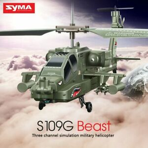 3.5CH Beast Alloy Gunship RC Helicopter Fall Resistance Stable Military Kids Toy