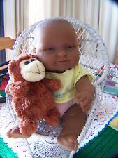 "Chubby Berenguer 13"" Baby Doll Vinyl Body African American Play Or Reborn"