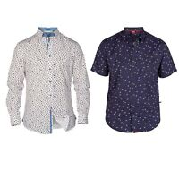 D555 Mens Plus Size Shirts Dylan Long Sleeve Patterned Casual Shirts S-2XL