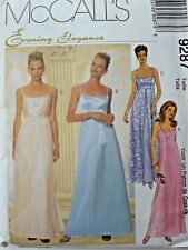 MCCALL'S SEWING PATTERN 9287 SPAGHETTI STRAP EVENING GOWN DRESS & SCARF 10-12-14