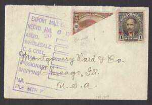 Honduras bisect on 1919 cover to USA