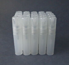 20 Clear Refillable Perfume Atomizer Plastic Mini Spray Empty Bottles 5ml .17 oz