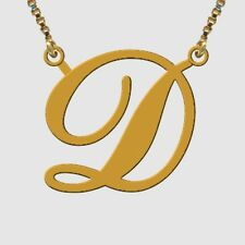 Initial Necklace 22 Carat GOLD Plated Handmade ANY LETTER of your choice