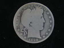 1898-O Barber Half, Good/About Good Condition