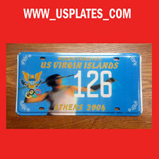 2004 OLYMPIC GAMES ATHENS VIRGIN ISLANDS LICENSE PLATE SPORT TAG LOW NUMBER 126